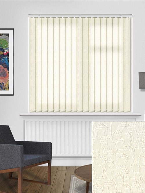Hedera Cream 89mm Vertical Blind Replacement Slats