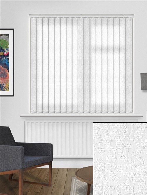 Hedera White 89mm Dim-Out Vertical Blind