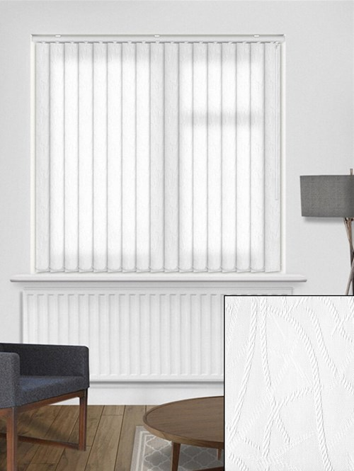 Rope White 89mm Vertical Blind Replacement Slats