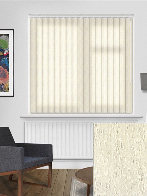 Salix Cream 89mm Vertical Blind Replacement Slats