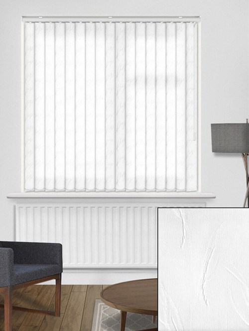 Tangle White 89mm Dim-Out Vertical Blind