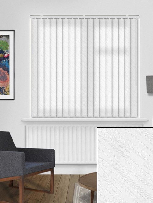 Tidal White 89mm Dim-Out Vertical Blind