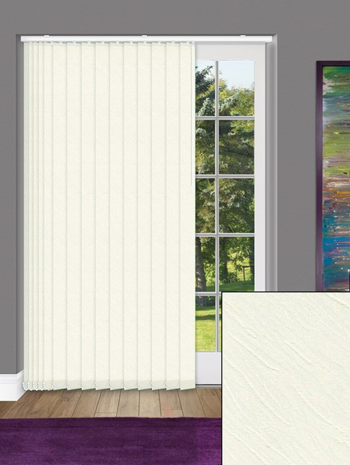 Zyon Beige 89mm Dim-Out Vertical Blind