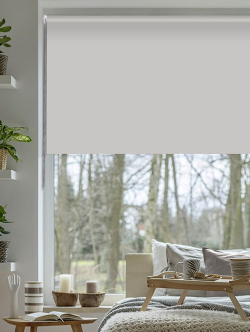 Light Grey Blackout Thermal Roller Blind