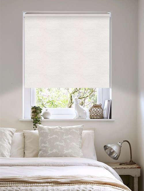 Linen Blackout Cordless Roller Blind Spring Loaded