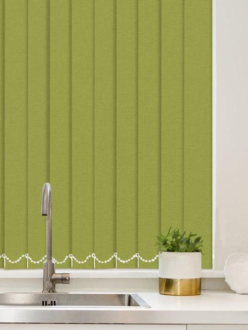 Luxe Apple Green Waterproof 89mm Vertical Blind Replacement Slats