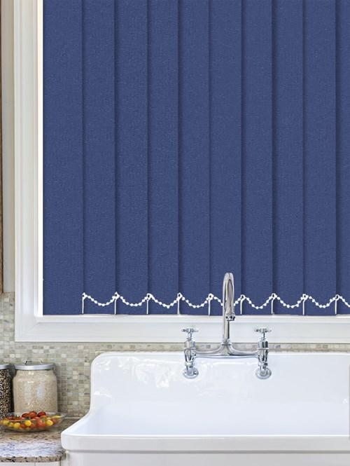 Luxe Imperial Blue Waterproof 89mm Vertical Blind