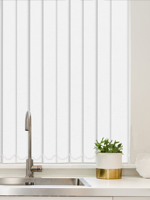 Luxe White Waterproof 89mm Vertical Blind Replacement Slats