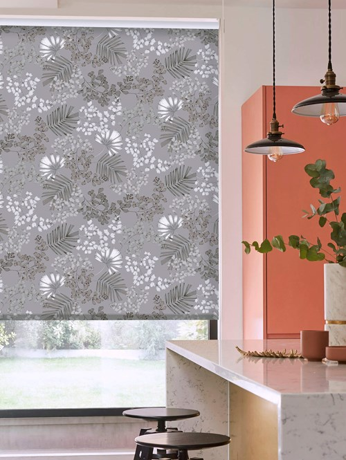 Maidenhair Grey Daylight Electric Roller Blind