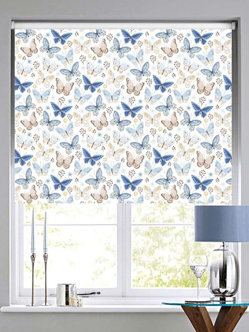 Mariposa Patterned Daylight Electric Roller Blind