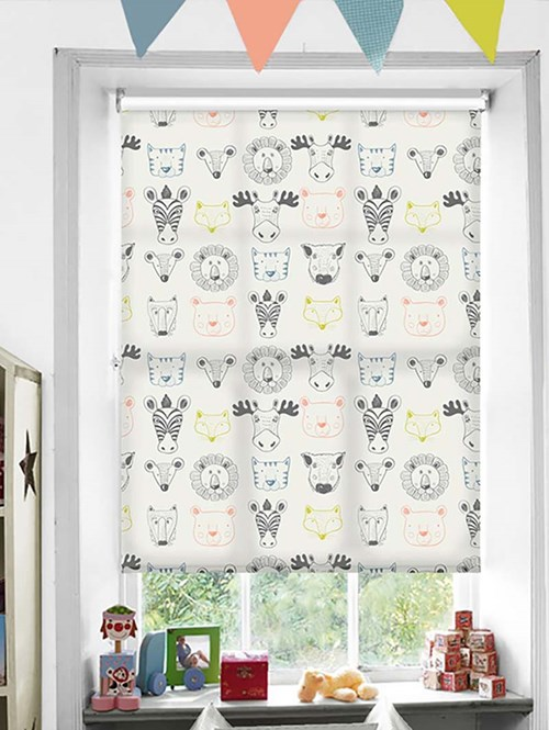 Menagerie Patterned Daylight Electric Roller Blind