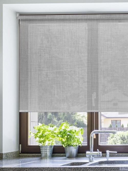 Mist Weave 5% Sunscreen Cordless Roller Blind Spring Loaded
