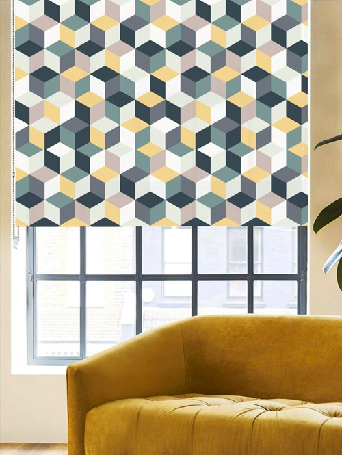 Muted Cubes Roller Blind