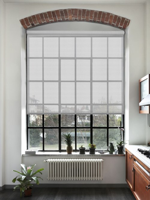 Nordic Grey 5% Sunscreen Electric Roller Blind