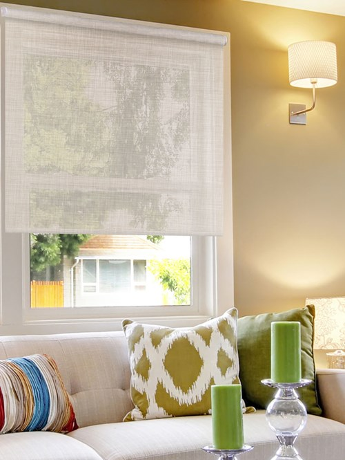 Oatmeal Weave 5% Sunscreen Electric Roller Blind