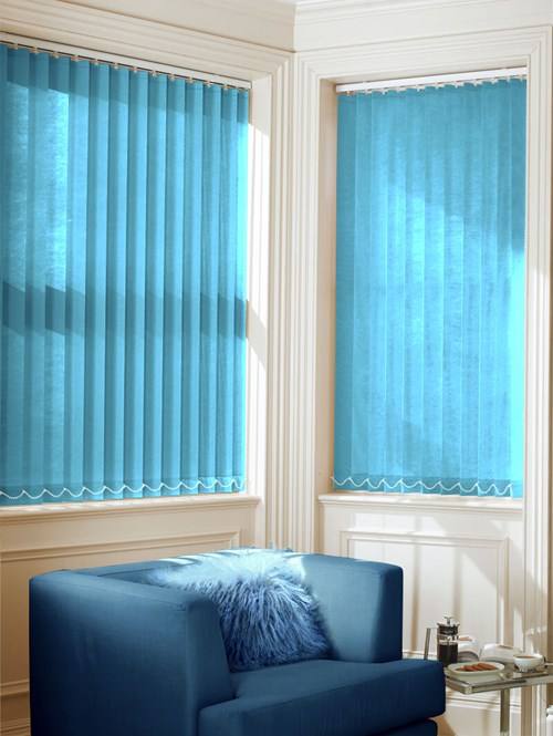 Ocean Blue 89mm Daylight Vertical Blind