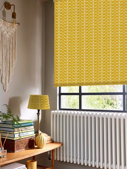 Orla Kiely Linear Stem Dandelion Electric Roller Blind