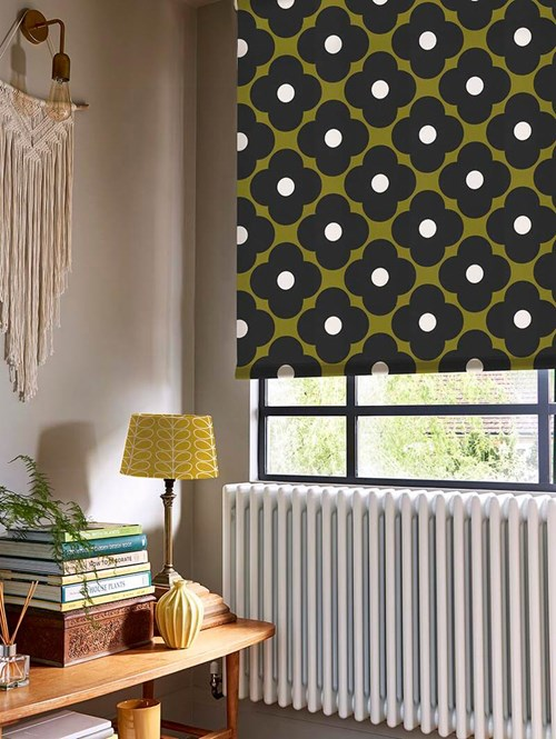 Orla Kiely Spot Flower Seagrass Electric Roller Blind