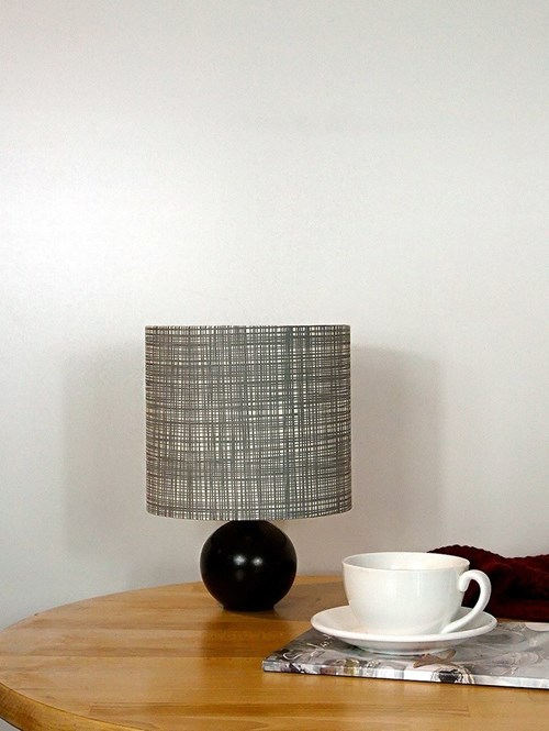 Orla Kiely Scribble Cool Grey Lampshade