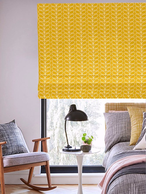 Orla Kiely Linear Stem Dandelion Electric Roman Blind