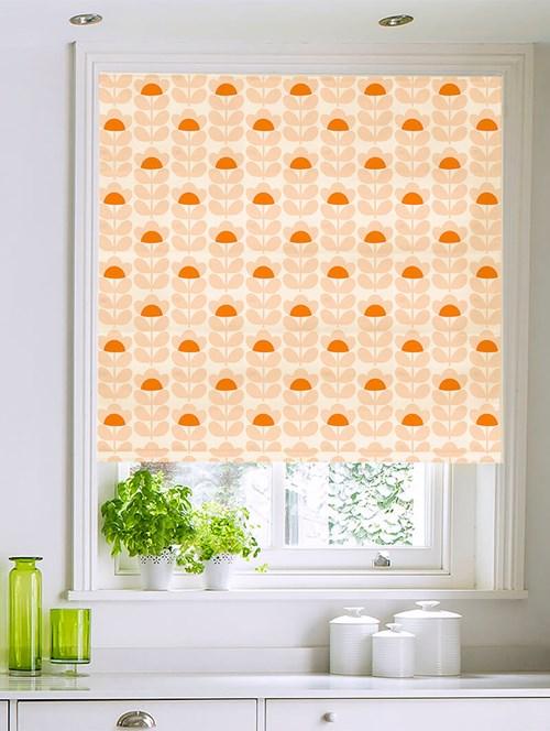 Orla Kiely Sweet Pea Orange Electric Roman Blind