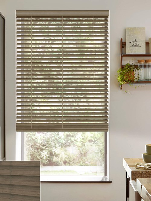 Orwell 50mm Wooden Electric Venetian Blind