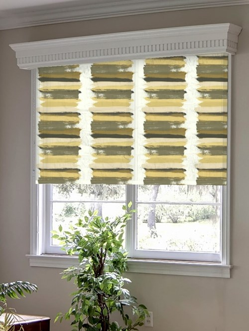 Painterly Stripe Sand Roller Blind