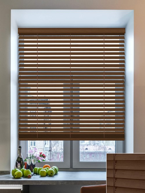 Pelt 50mm Wooden Electric Venetian Blind
