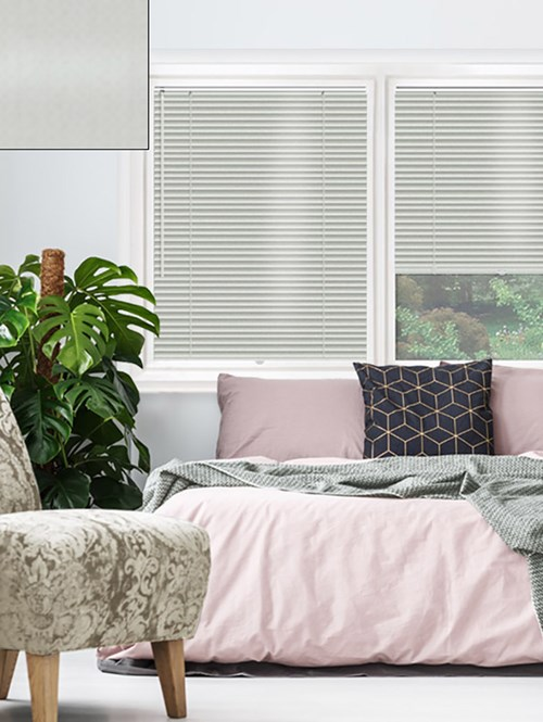 Satin Silver 25mm Perfect Fit Venetian Blind