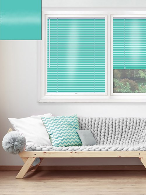 Gloss Turquoise 25mm Perfect Fit Venetian Blind