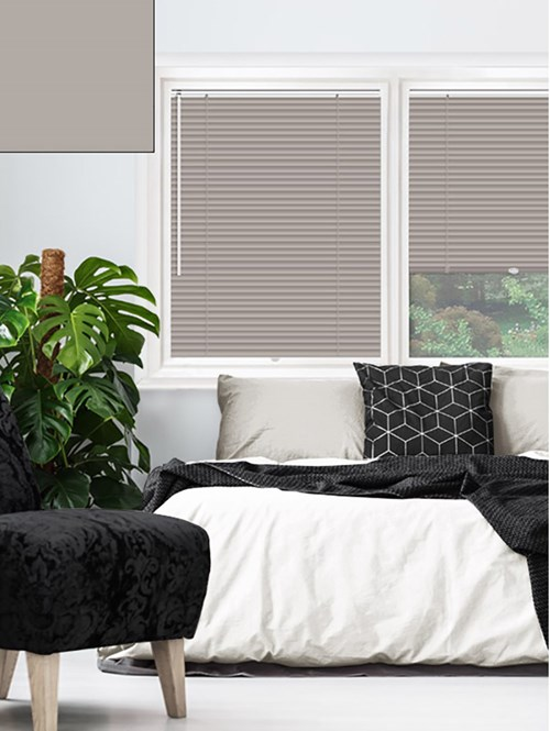 Matte Mushroom 25mm Perfect Fit Venetian Blind