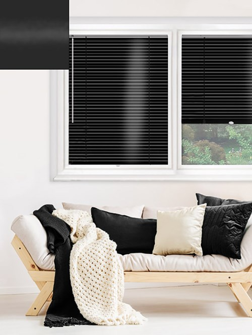 Gloss Black 25mm Perfect Fit Venetian Blind