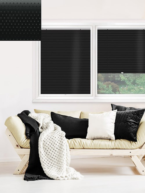 Perforated Black 25mm Perfect Fit Venetian Blind
