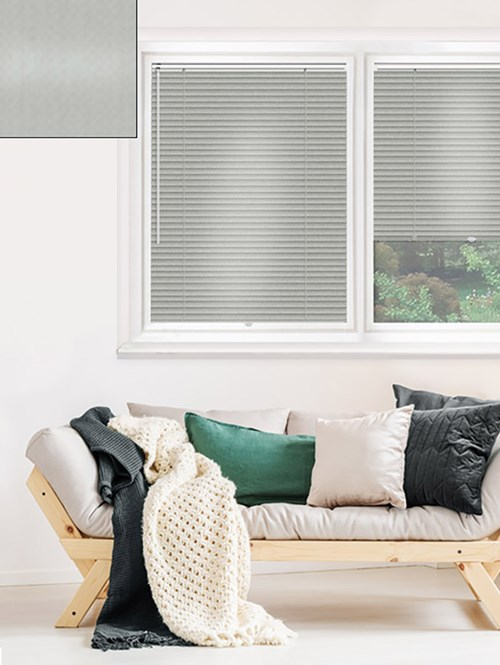Shiny Silver 25mm Perfect Fit Venetian Blind