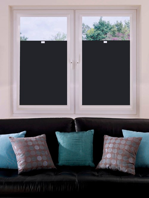 Perfect Fit Blackout Black Bottom Up Blind