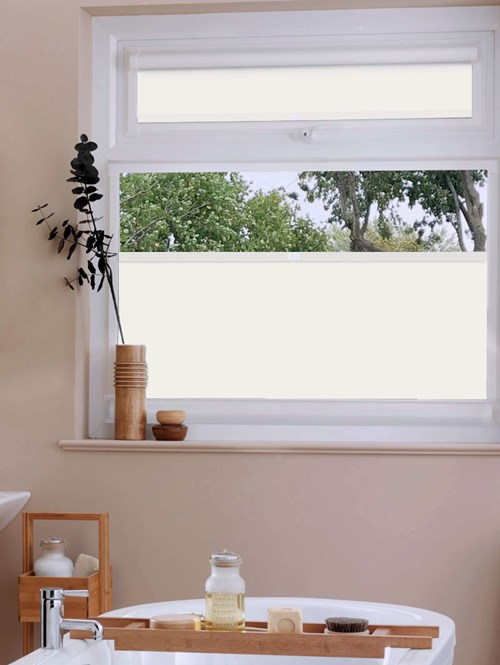 Perfect Fit Blackout Ivory Bottom Up Blind