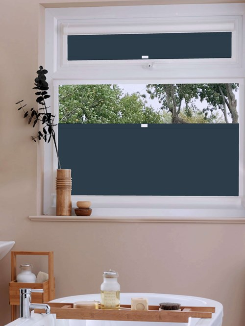 Perfect Fit Blackout Navy Bottom Up Blind