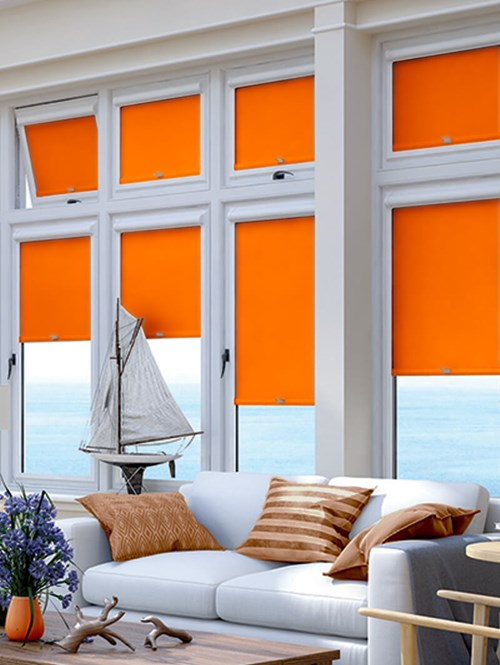 Blackout Action Orange Perfect Fit Roller Blind