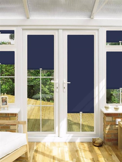 Blackout Highrise Perfect Fit Roller Blind for Doors