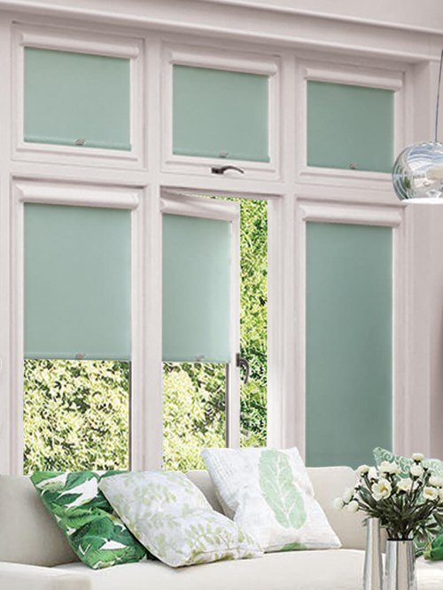 Blackout Aloe Perfect Fit Roller Blind