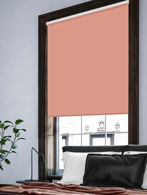 Salmon Extra Large Electric Roller Blind