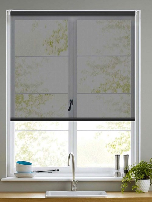 Sheer Black Electric Roller Blind