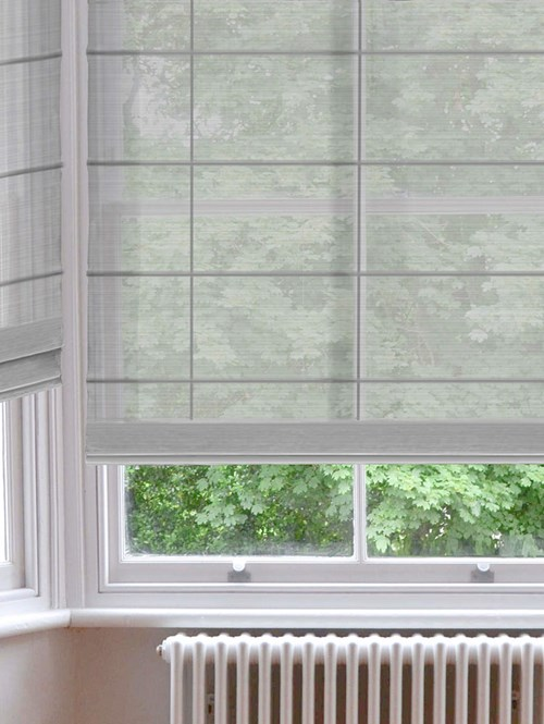 Mist Grey Electric Sheer Roman Blind