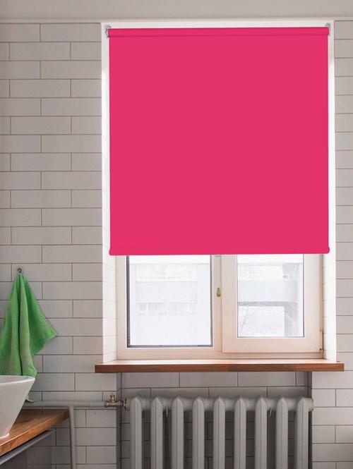 Shock Pink Blackout Cordless Roller Blind Spring Loaded