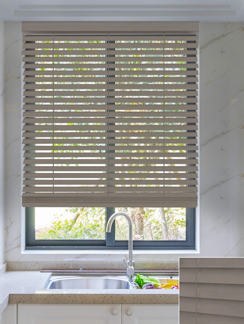 Smoulder 50mm Wooden Electric Venetian Blind