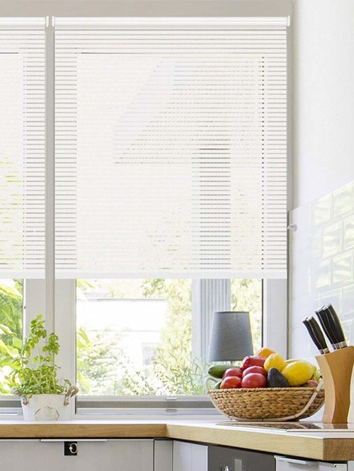 Stratus White Sheer Electric Roller Blind
