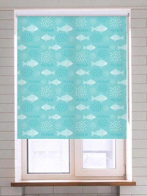 Swim With The Fishes Aqua Roller Blind