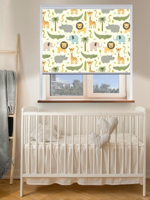 At The Zoo Total Blackout Roller Blind
