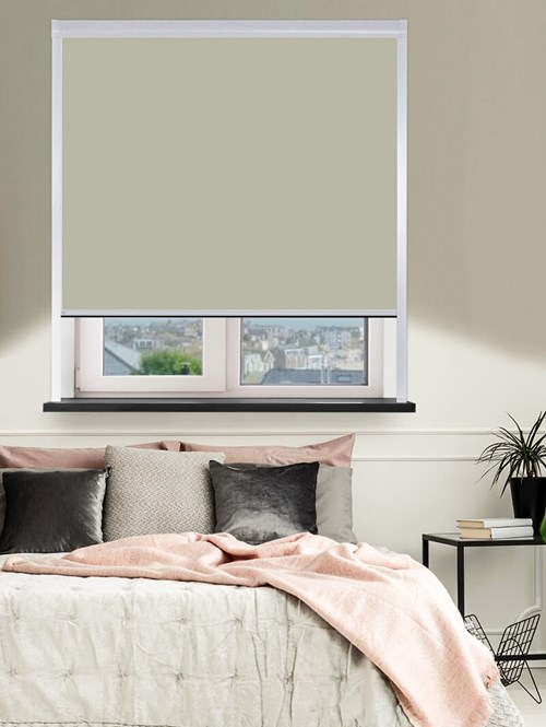 Colour Match Barn Owl Total Blackout Roller Blind