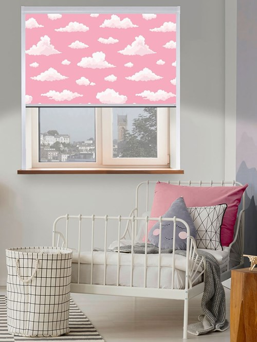 Candy Floss Clouds Total Blackout Roller Blind